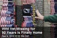 WWI Vet Missing For 92 Years Is Finally Home!