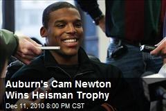 Auburn's Cam Newton Wins Heisman Trophy