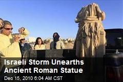 Israeli Storm Unearths Ancient Roman Statue