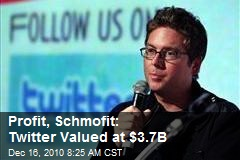 Profit, Schmofit: Twitter Valued at $3.7B