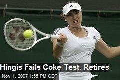 Hingis Fails Coke Test, Retires