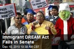 Immigrant DREAM Act Fails in Senate