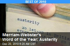 Merriam-Webster's Word of the Year: Austerity