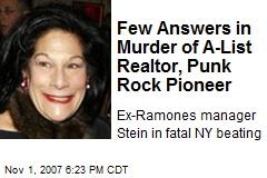 Few Answers in Murder of A-List Realtor, Punk Rock Pioneer