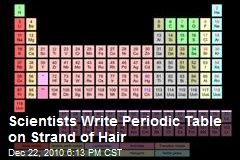Scientists Write Periodic Table On Strand of Hair