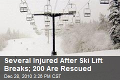 Several Injured After Ski Lift Breaks; 200 Are Rescued