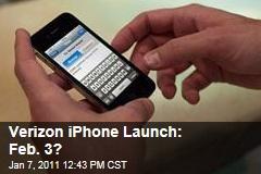 Verizon iPhone Launch: Feb. 3?