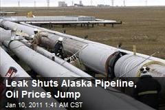 Leak Shuts Alaska Pipeline, Oil Prices Jump