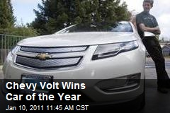 Chevy Volt Wins Car of the Year