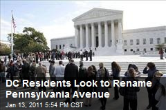 DC Residents Look to Rename Pennsylvania Avenue