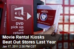 Movie Rental Kiosks Beat Out Stores Last Year