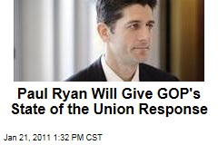 Paul Ryan Will Give GOP's State of the Union Response