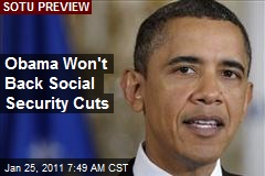 Obama Won't Back Social Security Cuts