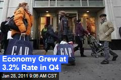 Economy Grew at 3.2% Rate in Q4
