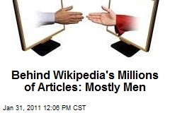 Behind Wikipedia's Millions of Articles: Mostly Men