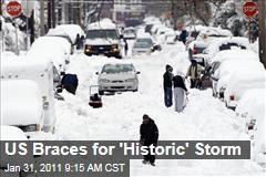 US Braces for 'Historic' Storm