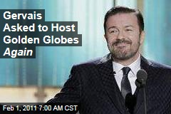 Gervais Asked to Host Golden Globes Again