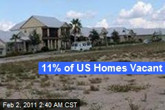 11% of US Homes Vacant