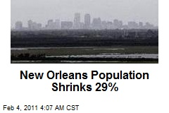 New Orleans Population Shrinks 29%