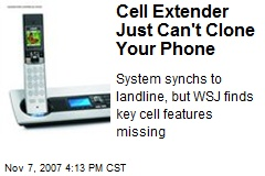 Cell Extender Just Can't Clone Your Phone