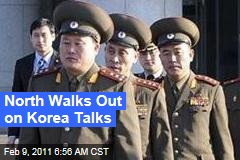 North Walks Out on Korea Talks