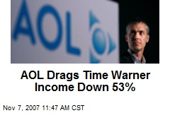 AOL Drags Time Warner Income Down 53%