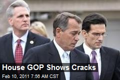 House GOP Shows Cracks