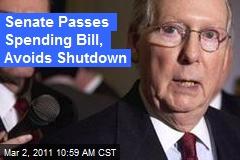 Senate Passes Spending Bill, Avoids Shutdown