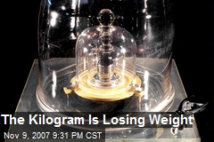 The Kilogram Is Losing Weight