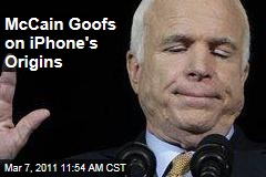 Sen. John McCain: iPads, iPhones 'Are Built in the United States of America'