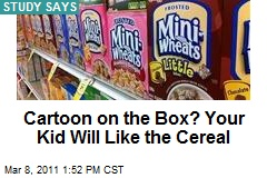 Cartoon on the Box? Your Kid Will Like the Cereal