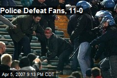 Police Defeat Fans, 11-0