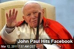 Pope John Paul Gets Own Facebook Page