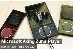 Microsoft Axing Zune Player