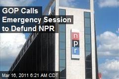 GOP Calls Emergency Session to Defund NPR
