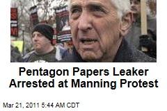Daniel Ellsberg Busted at Manning Protest