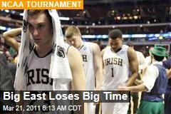 Big East Loses Big in NCAA Tournament
