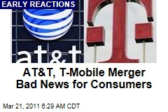 AT&T, T-Mobile Merger Reactions: Not Good for Consumers