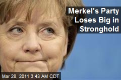 Merkel's Party Loses Big in Stronghold