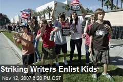 Striking Writers Enlist Kids
