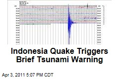 Indonesia Earthquake Triggers Tsunami Warning