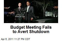 Budget Meeting Fails to Avert Shutdown