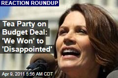 Budget Deal a 'Disappointment,' Say Michele Bachmann, Rand Paul; Other Tea Partiers Give Thumbs Up