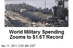 World Military Spending Hits $16T Record High