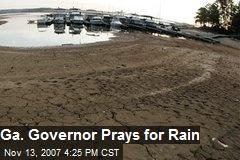 Ga. Governor Prays for Rain