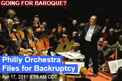 Philadelphia Orchestra Files for Bankruptcy
