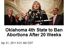 Oklahoma 4th State to Ban Abortions After 20 Weeks