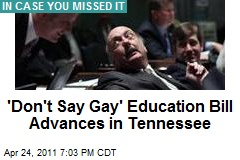'Don't Say Gay' Education Bill Advances in Tennessee