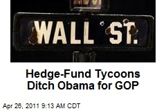 Hedge-Fund Tycoons Ditch Obama for GOP