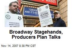 Broadway Stagehands, Producers Plan Talks